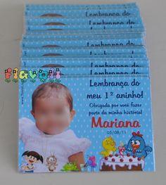 Foto-lembrança com imã - Galinha Pintadinha  :: flavoli.net - Papelaria Personalizada :: Contato: (21) 98-836-0113 - Também no WhatsApp! vendas@flavoli.net