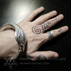 hand-poked tattoo of a unalome!! I'm dying I need this in my life