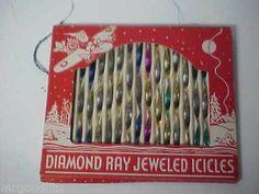 Old Diamond Ray Twisted Metal Christmas Icicles OB 205