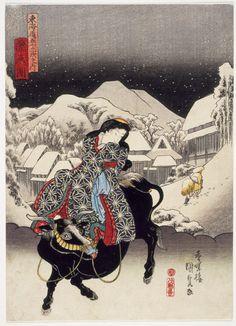 Utagawa Kunisada - Kambara 1838.