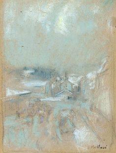 Édouard Vuillard (1868-1940) Paysage aux toits blancs (Vue de Geradmer)
