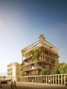 """URBAN AGENCY's Luxury Apartment Design """"Twists"""" French Planning Law,Exterior Rendered View. Image Courtesy of URBAN AGENCY"""