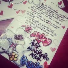 Image result for cartas para mi novio de aniversario con letra timoteo Minions, Tatoos, Bff, Diy And Crafts, Birthday Gifts, Poems, Mandala, Girly, Scrapbook
