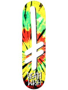 Deathwish Gang Logo Rasta Tie-Dye Deck  8.3875 x 32