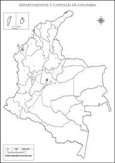 Resultado de imagen para mapa de colombia con la division politica sin nombres