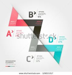 Modern arrow origami style options banner. Vector illustration. can be used for workflow layout, diagram, number options, step up options, web design, infographics. by graphixmania, via ShutterStock