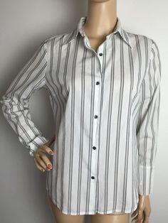 J Crew Button Down Women's Striped Shirt Small | eBay