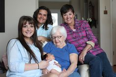 5 generations of lovely girls....age 95 years down to 17 days old.