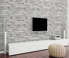 Amazon Natural Stacked Grey Stone Brick Pattern Vinyl Contact Paper Self Adhesive
