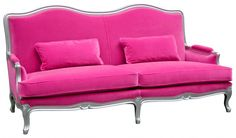 This is going in my future office. Across from it will be two eames shell chairs. And yes, I can pull off a pink sofa.