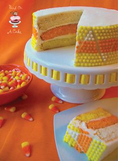 Candy Corn Cake  #bestdressedkids.com #halloween