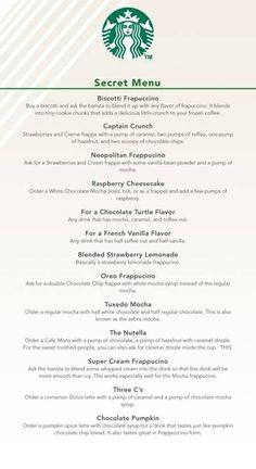 Starbucks Secret Menu | Favorite Recipes | Cheesecake