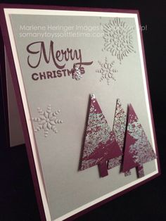 Stampin' Up! Man Christmas card, Lots of Joy, Tree Punch