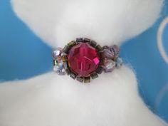 mydailybead.blogspot fuchsia ring