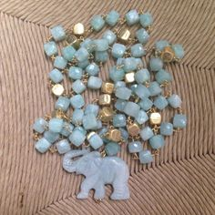 Hey, I found this really awesome Etsy listing at https://www.etsy.com/listing/191946050/turquoise-elephant-necklace