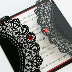 Perfect invite for a swanky masquerade themed wedding.