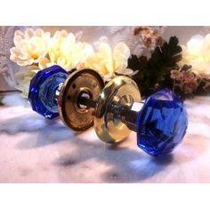 cobalt glass door knobs I love glass door knobs and I love the color cobalt blue. Crystal Door Knobs, Glass Door Knobs, Cobalt Glass, Cobalt Blue, Vintage Door Knobs, Door Knobs And Knockers, Vintage Windows, Old Doors, Colored Glass