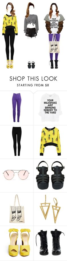 """""""my oc would wear that #17"""" by anekochan on Polyvore featuring Versace Jeans Couture, Ashish, Wolford, Chanel, Lazy Oaf, Charlotte Olympia and Theyskens' Theory"""