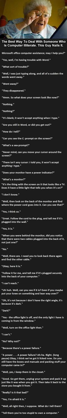 The Best Way To Deal With Someone Who Is Computer Illiterate. (This Guy Nails It!)