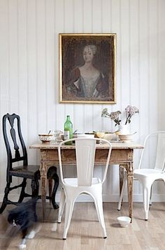 Tolix / Portrait / Cat / Beadboard / Farm Table
