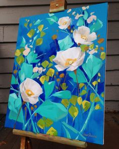 The light is rainy today, so I'm getting a better view of this one on the back porch. Abstract Flowers, Acrylic Art, Painting Inspiration, Art Inspo, Painting & Drawing, Flower Art, Cool Art, Art Projects, Illustration Art