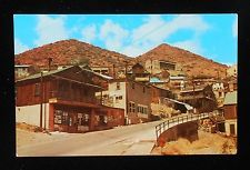 1950s Looking Uphill Largest Ghost City in America Jerome AZ Yavapai Co Postcard