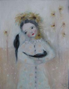 Just wonderful! Ready to bid on eBay, FadedWest, artist Karen Milstein:)