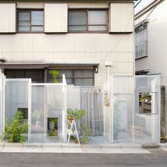 Ghost-like Architecture by Shingo Masuda and Katsuhisa Otsubo Architects - Dezeen love the concept. Japan Architecture, Architecture Details, Interior Architecture, Facade Design, Exterior Design, Living Pool, Expanded Metal, Lobby Interior, Modern Fence