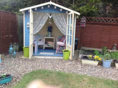 Nice My Pretty Summer House With All Hand Painted Furniture . Ideal Location For  Vintage Afternoon Tea