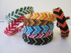 Made to Order ~ Chevron Braided Bracelets by beausbitsandbobs