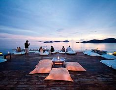 Baba's Nest rooftop lounge and bar, at the heart of the Sri Panwa resort in Phuket, Thailand, offers 360-degree panoramic views of the surrounding sea