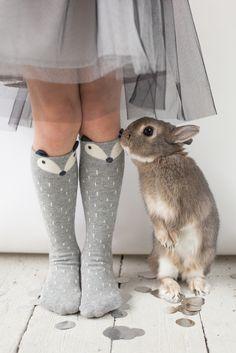Lublue Christmas Guide. Mini Dressing Fox knee socks.