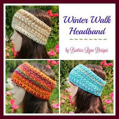 Winter Walk Headband is a simple and quick pattern that works up nicely!! An…