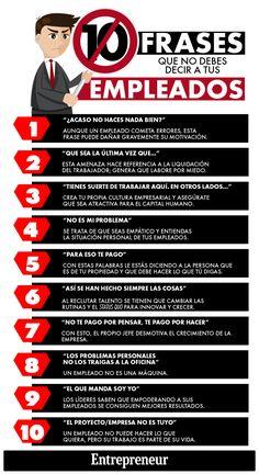 10 frases de un mal jefe #infografía
