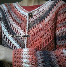 Hoje trago trabalhos entregues em Julho, só tinha postado no meu Instagram, para acompanhar clique AQUI O gráfico de base, utilizado par... Kimono Crochet, Crochet Jacket, Crochet Chart, Shawls And Wraps, Crochet Clothes, Crochet Projects, Knitting, Womens Fashion, Instagram