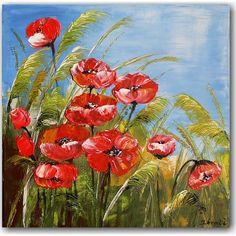 Dit mooie zomerse kunstschilderij is geschilderd door kunstenares Ines