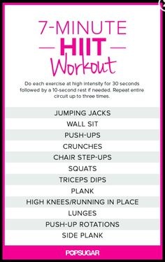 7 minutes hit workout