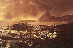 Panorâmica do Rio de Janeiro feita por Marc Ferrez em 1890.