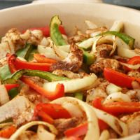 Easy Oven Fajitas from our blog -- one of our favorite go-to dinners. Customize this for any phase: Serve with phase-appropriate tortillas for Phase 1, over salad greens for Phase 2, or topped with avocado for Phase 3.