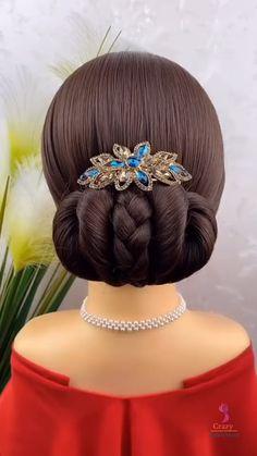 Bun Hairstyles For Long Hair, Work Hairstyles, Headband Hairstyles, Hair Cure, Mode Poster, Hair Upstyles, Natural Hair Styles, Long Hair Styles, Hair Videos