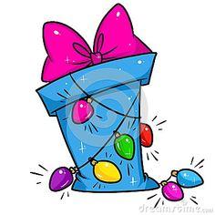 Christmas Gift garland cartoon illustration isolated image