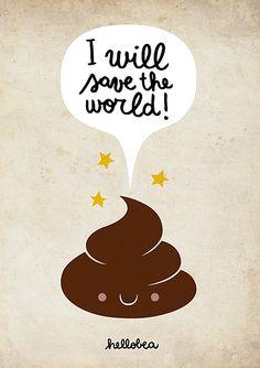 la cacca salverà il mondo #illustration #poo #cacca #world