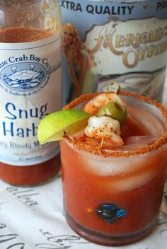 A seafood bloody mary... I feel the need to try this!  :-)
