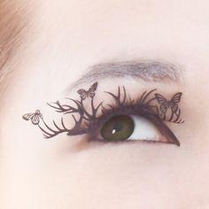 laser cut paper eyelashes