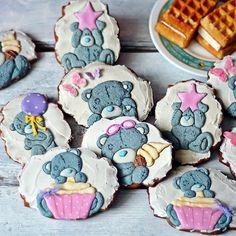 Royal Icing Cookies, Cake Cookies, Beautiful Cupcakes, Tatty Teddy, Biscuit Cookies, 1st Birthday Parties, Cake Pops, Birthdays, Yummy Food