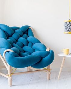 This Super Chunky Knit Chair is Winter Hibernation Goals - wow! I want this so much