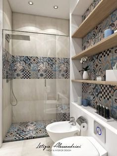 Modern Bathroom: Interior Design, Ideas and Photos l homify - Studio in Milan: Modern style bathroom by Letizia Alessandrini – Yacht & Interior Design - Bathroom Makeover, Bathroom Interior Design, Bathroom Design Small, House Interior, Modern Bathroom, Interior, Simple Bathroom, Bathroom Decor, Stylish Bedroom Design
