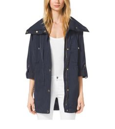 Zip-Front Nylon Jacket | Michael Kors