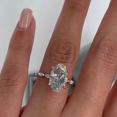 Cute Engagement Rings, Oval Solitaire Engagement Ring, Engagement Ring Settings, Oval Wedding Rings, Expensive Engagement Rings, Engagement Jewellery, Expensive Wedding Rings, Most Popular Engagement Rings, Celebrity Engagement Rings