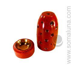 Soma Luna LLC - Red Soapstone Charcoal Incense Burner, $19.95 (http://www.somaluna.com/incense-burners/soapstone-burners/red-soapstone-charcoal-incense-burner/)
